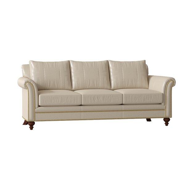 Richardson Leather Sofa By Bradington-Young
