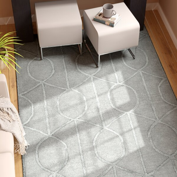 Abbey Hand-Tufted Blue Geometric Area Rug by Wade Logan