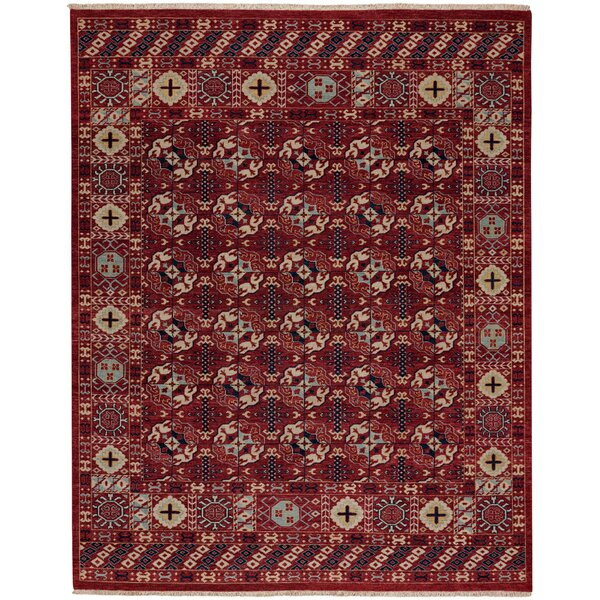 Biltmore Hand-Knotted Deep Red Area Rug by Capel Rugs