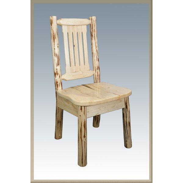 Tustin Slat Back Solid Wood Dining Chair by Loon Peak