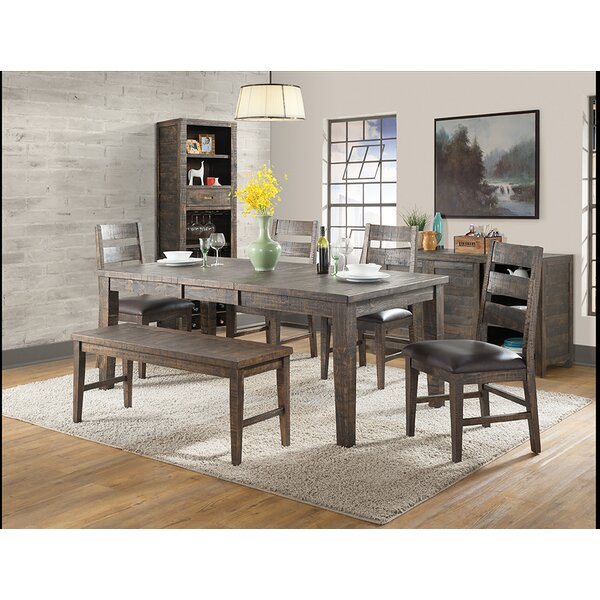 Burkhalter 6 Piece Solid Wood Dining Set by Union Rustic Union Rustic