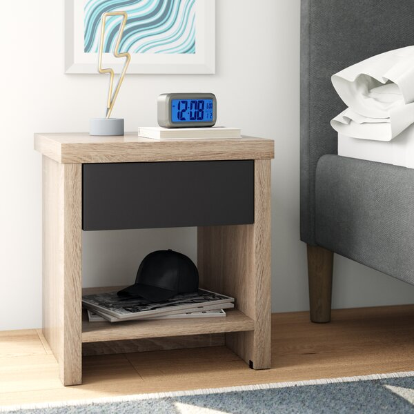 Ashton Modern 1 Drawer Nightstand by Trule Teen