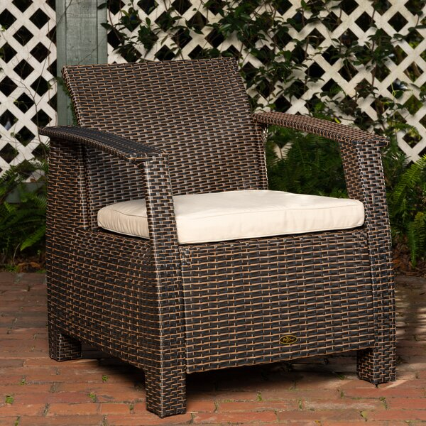 Bondi Deluxe Outdoor Patio Chair With Cushion By PatioSense by PatioSense Amazing