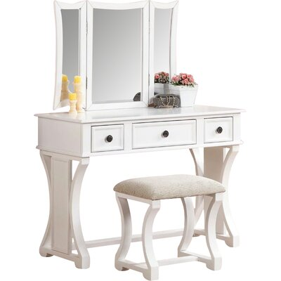 Adelynnline Vanity Set with Mirror by Winston Porter
