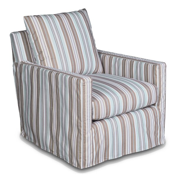Striped Club Box Cushion Armchair Slipcover By Sunset Trading