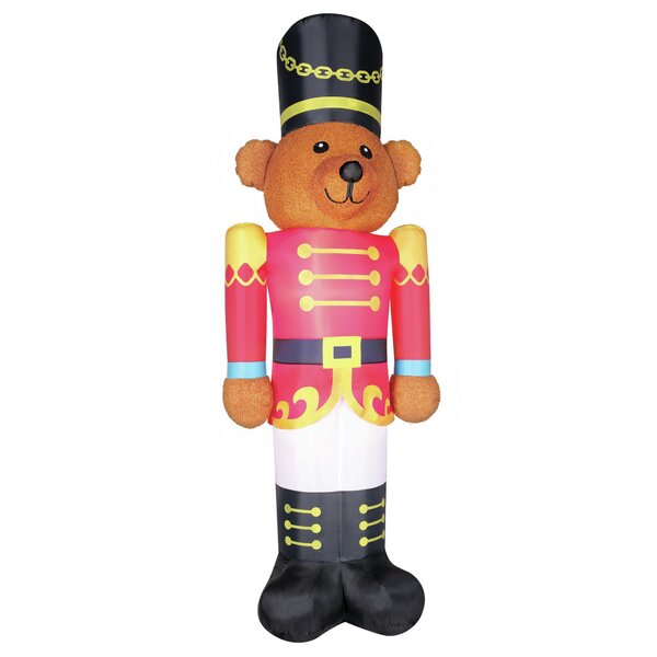 Fuzzy Bear Soldier Inflatable by The Holiday Aisle