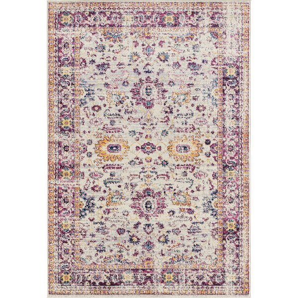 Dieter Beige/Purple Area Rug by Bungalow Rose