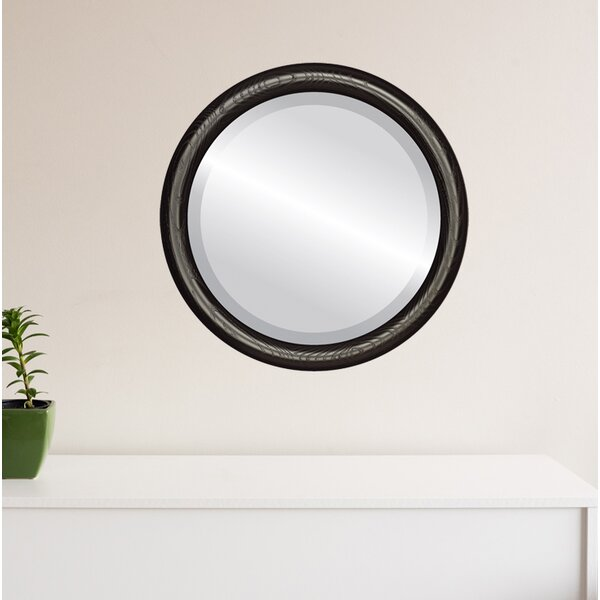Wincanton Framed Round Accent Mirror by Charlton Home