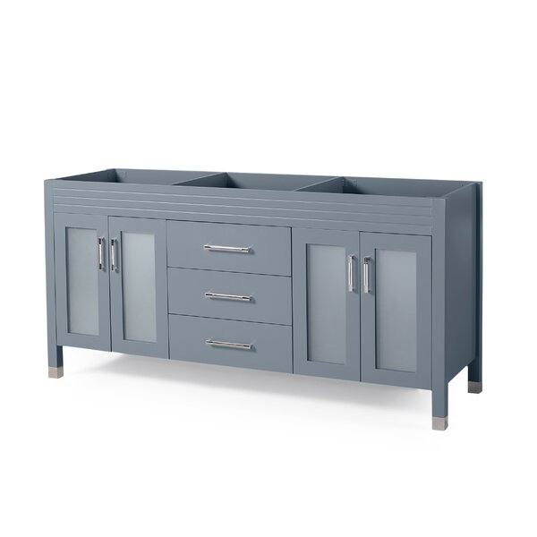 Will Isaiah 72 Double Bathroom Vanity Base Only
