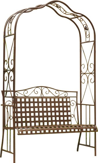 Clarence Iron Garden Bench by Darby Home Co