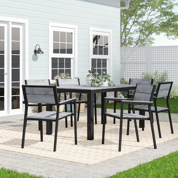 Windsor 7 Piece Outdoor Patio Dining Set by Sol 72 Outdoor