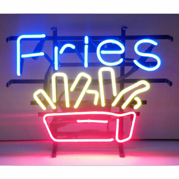 Fries Neon Sign by Neonetics