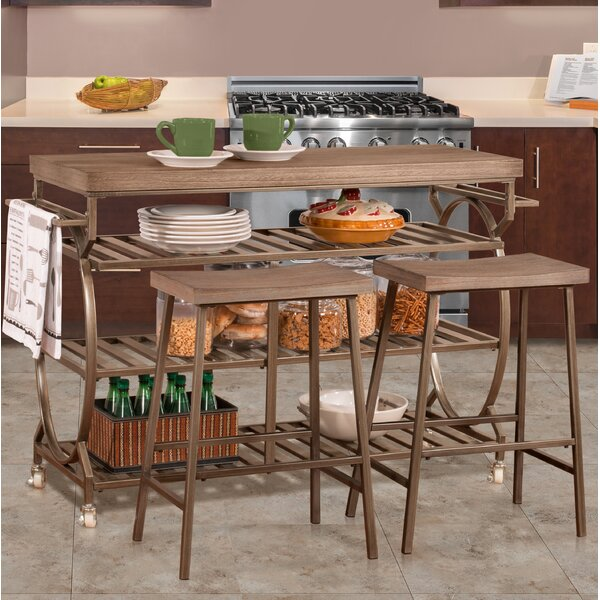 Trentelman 3 Piece Kitchen Island Set by August Grove