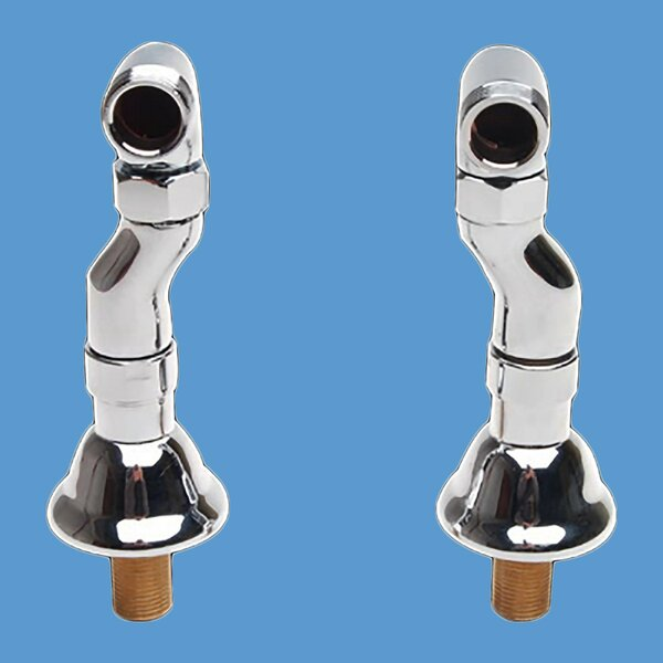Adjustable Supply Couplers Deck Mounted Clawfoot Tub Faucet (Set of 2) by The Renovators Supply Inc. The Renovators Supply Inc.