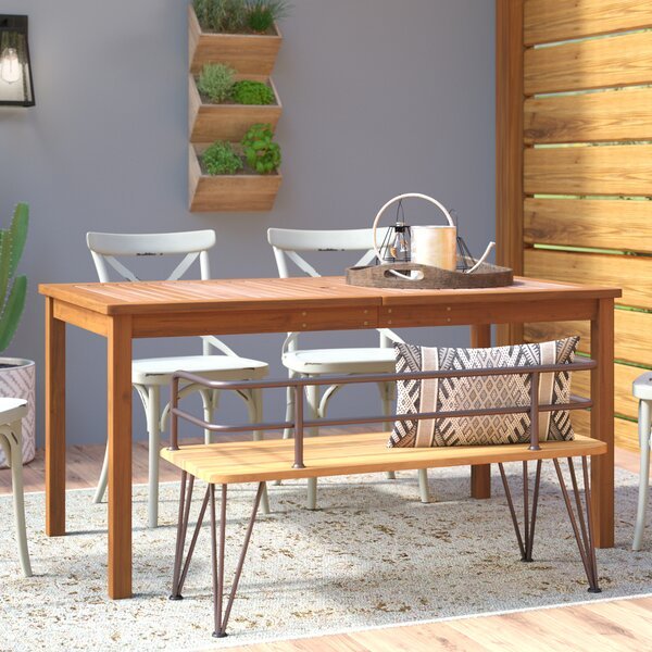 Shaftesbury Solid Wood Dining Table by Sol 72 Outdoor
