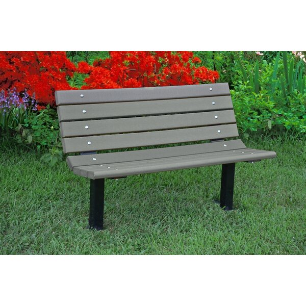 Contour Recycled Plastic Park Bench by Frog Furnishings Frog Furnishings