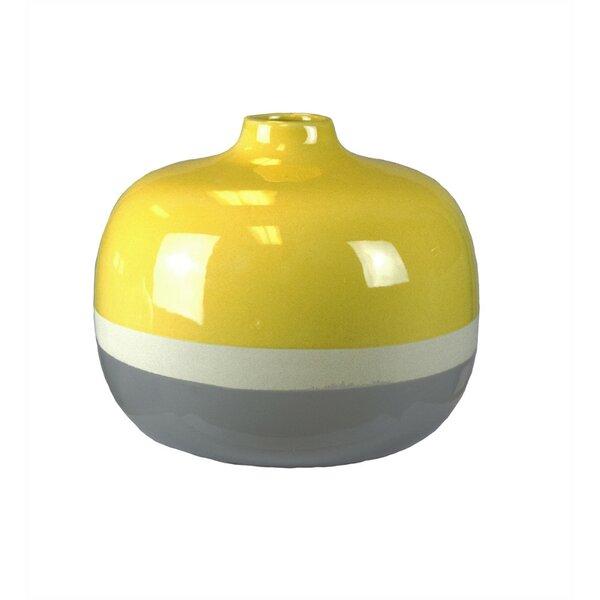 Dilorenzo Sleek Round Table Vase by Corrigan Studio