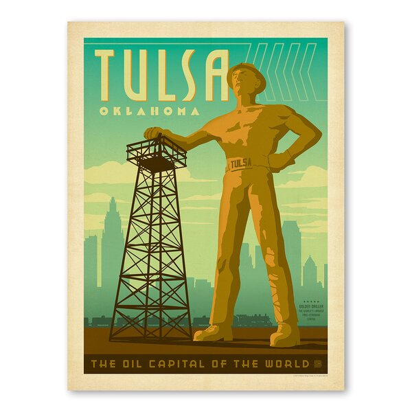 Tulsa Oilman Vintage Advertisement by East Urban Home