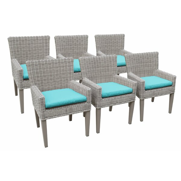 Shannen Patio Dining Chair with Cushion (Set of 6) by Breakwater Bay