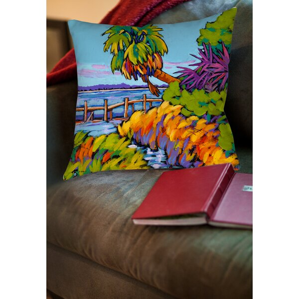 Cloud Nine Marsh Printed Throw Pillow by Manual Woodworkers & Weavers