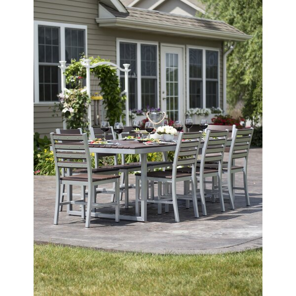 Alissa Outdoor 9 Piece Dining Set by Longshore Tides