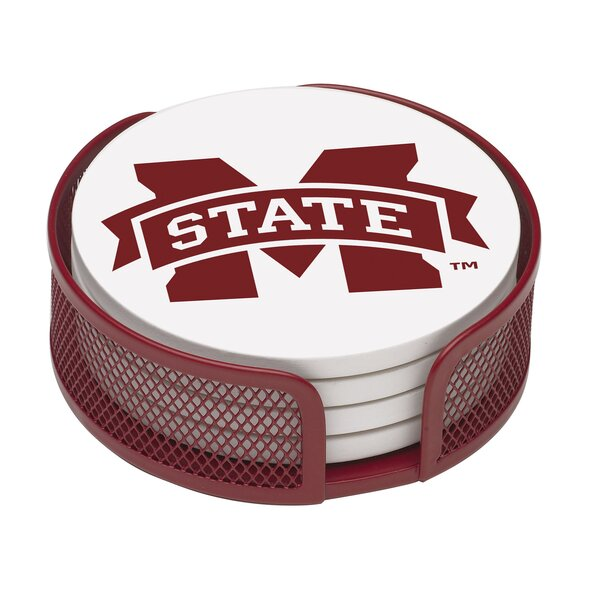 5 Piece Mississippi State University Collegiate Coaster Gift Set by Thirstystone