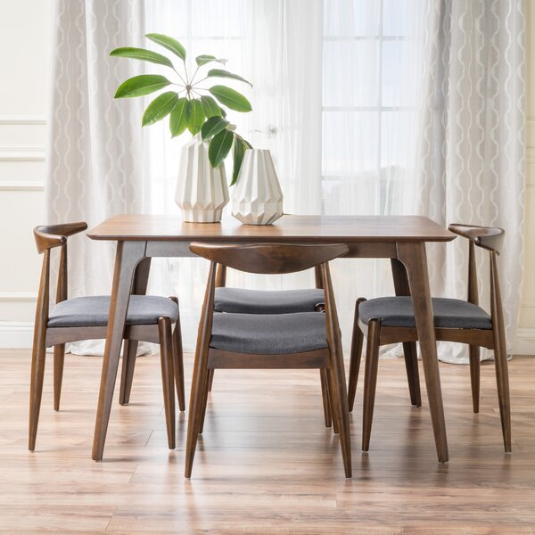 Millie 5 Piece Mid Century Dining Set by Langley Street