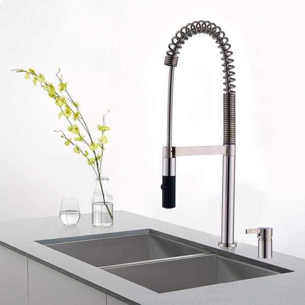 Commercial Brass Pull Down Single Handle Kitchen Faucet