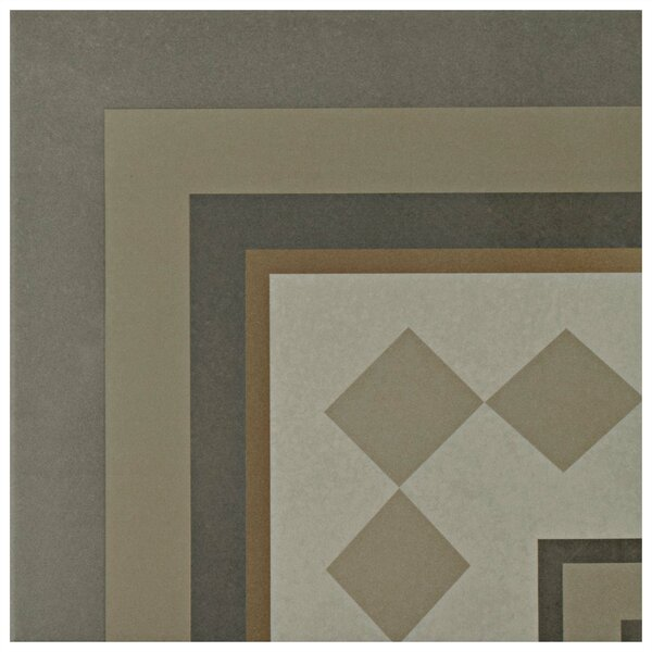 Grotta 7.88 x 7.88 Porcelain Field Tile in Gray/Yellow/Beige by EliteTile