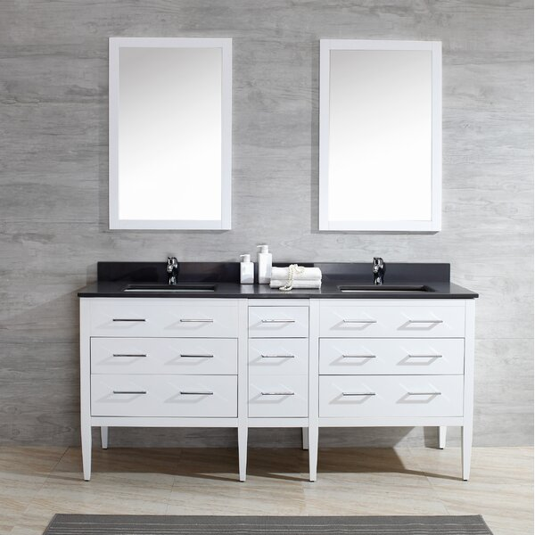 Vienna 73 Double Bathroom Vanity Set by Harper Beach
