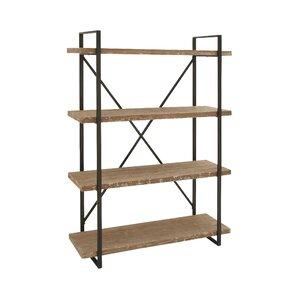 "Hardwick Metal Wood 67"" Etagere Bookcase"