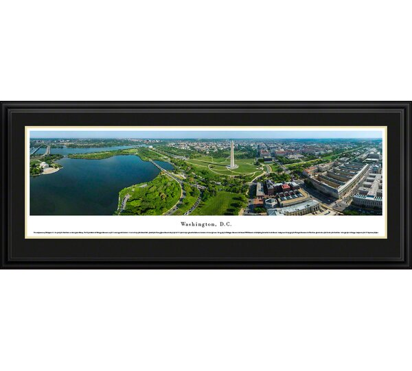 US skyline Washington, D.C. Day by James Blakeway Framed Photographic Print by Blakeway Worldwide Panoramas, Inc