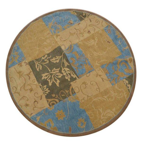 Aarav Hand-Tufted Wool Beige/Blue/Brown Area Rug by Fleur De Lis Living