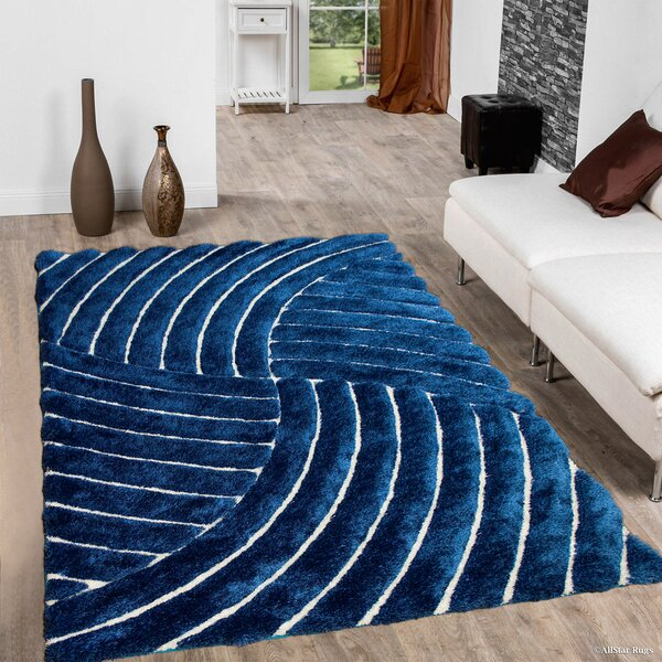 Hand-Tufted Cobalt Area Rug by AllStar Rugs