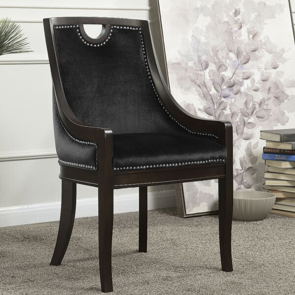 Adebay Velvet Upholstered Nailhead Arm Chair By Darby Home Co