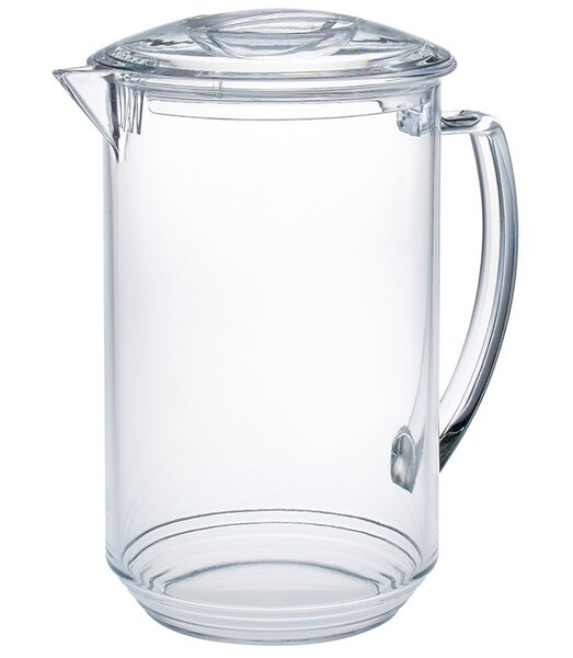 Elias Ribbed 1.75 qt. Pitcher with Lid by Red Barrel Studio