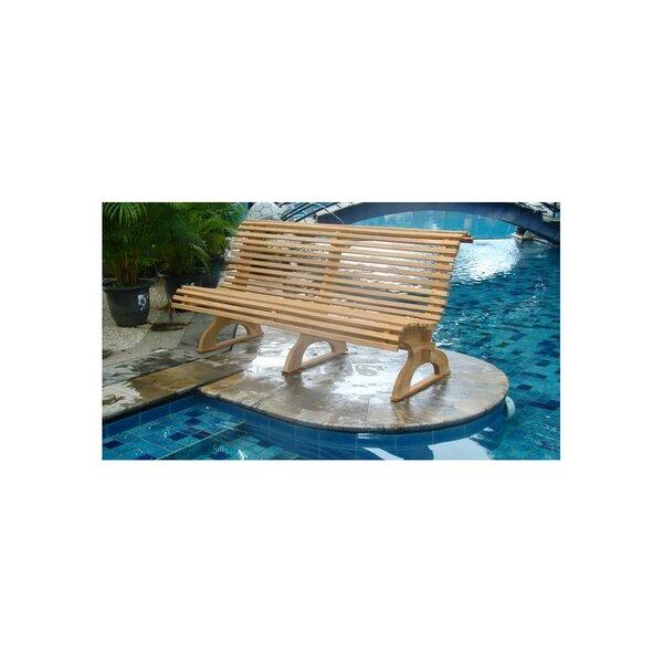 Mahlum Grade-A Luxurious  Teak Garden Bench by Highland Dunes Highland Dunes