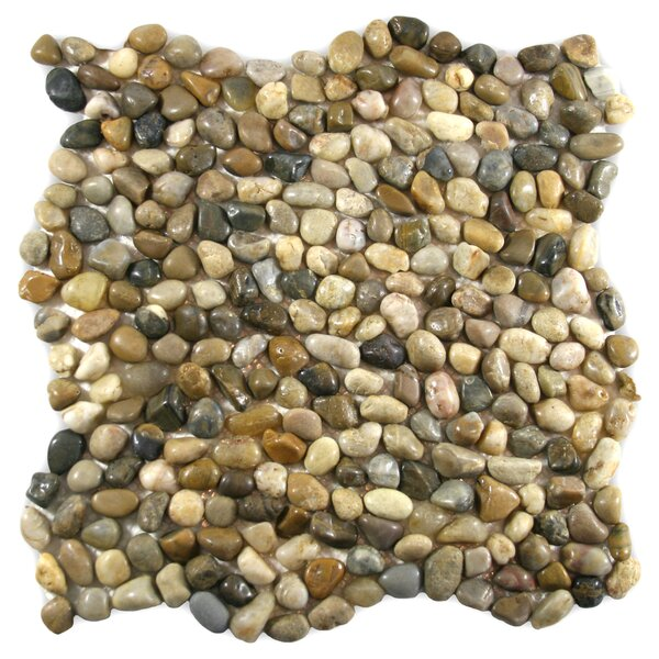 Pecos Random Sized Natural Stone Mosaic Tile in Cobblestone by CNK Tile