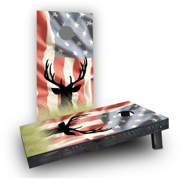 Faded American Elk Cornhole Boards (Set of 2) by Custom Cornhole Boards