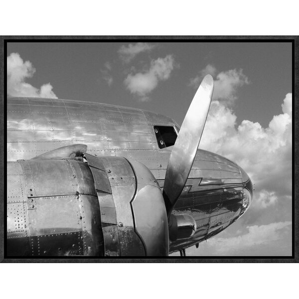 Propeller Framed Photographic Print on Canvas by Global Gallery