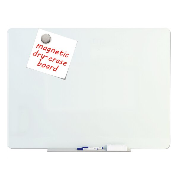 Tempered Glass Dry Erase Wall Mounted Magnetic Glass Board by Mastervision