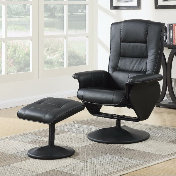Crossland 2 Piece Manual Recliner Chair with Ottoman by Orren Ellis