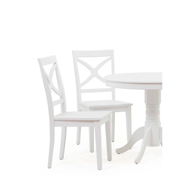 Cheatham Solid Wood Dining Chair (Set of 4) by Highland Dunes Highland Dunes