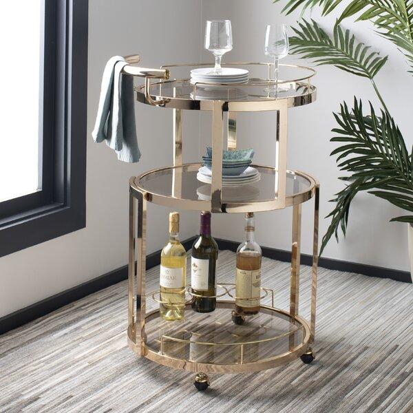 Cudney Wine Rack Bar Cart By Mercer41