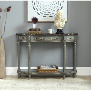 Calana 3 Drawer Console Table by Ophelia & Co.