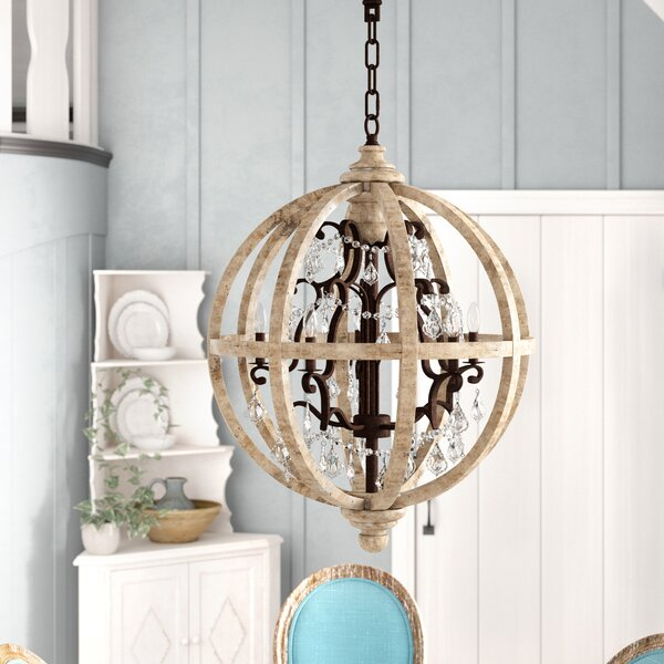 Andreana 5-Light Candle Style Globe Chandelier By One Allium Way