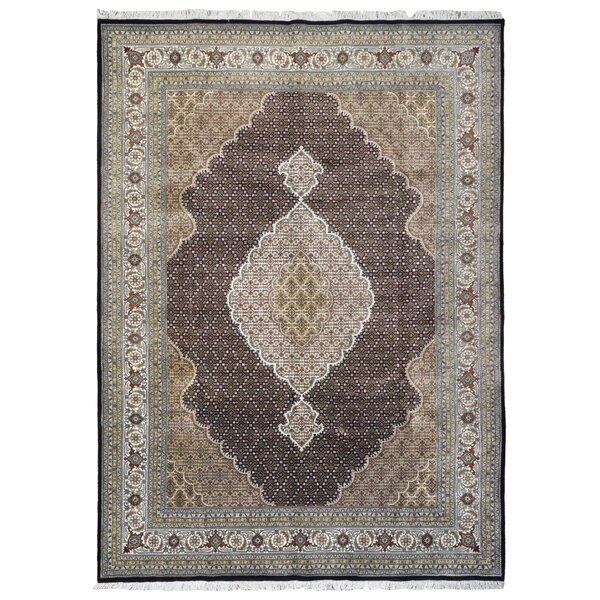 One-of-a-Kind Nishimura Mahi Oriental Hand-Knotted Olive/Brown Area Rug by Astoria Grand