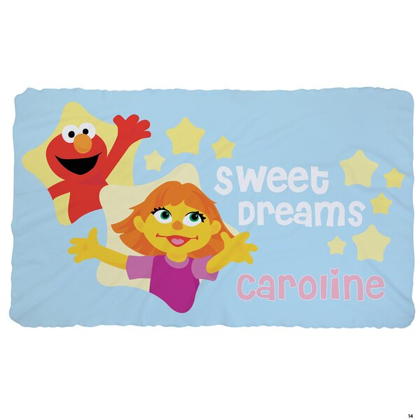 Sesame Street Julia and Friends Fuzzy Throw by CPS