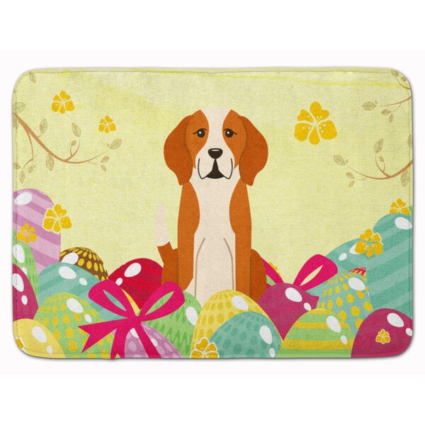 Easter Eggs English Foxhound Memory Foam Bath Rug by The Holiday Aisle