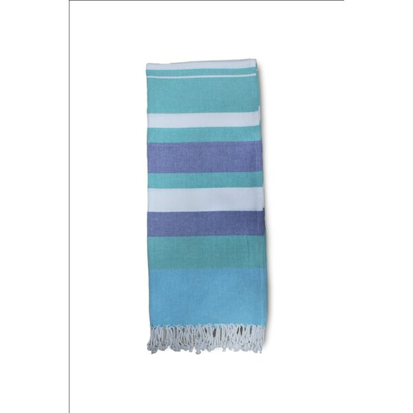 Lapeer Striped Turkish Cotton Bath Towel by Beachcrest Home